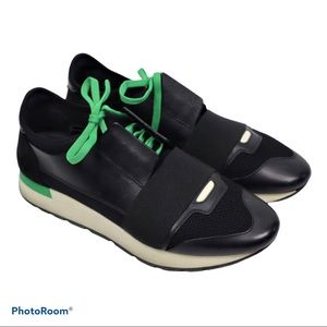 BALENCIAGA Leather Suede Sneakers Unisex